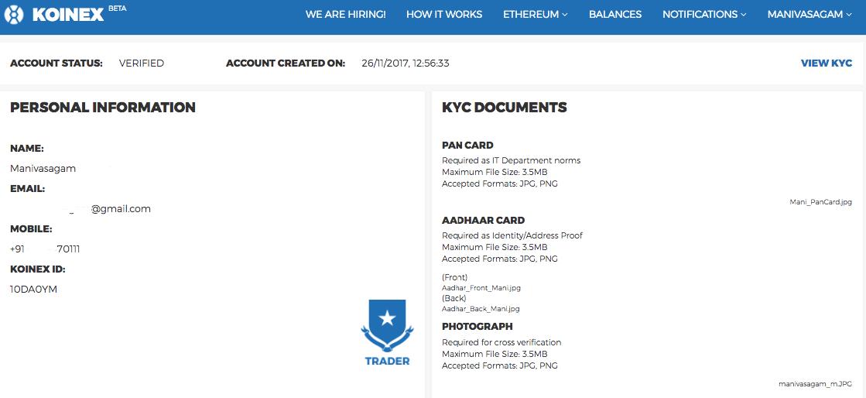 koinex verified